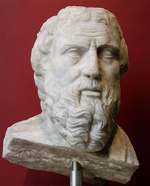 Hérodote vécut de 482 (ou 484, une incertitude demeure) à 420 avant J.-C. Il écrivit l'une des plus longues œuvres de l'Antiquité, Histoires ou Enquête. © Wikimedia common, DP