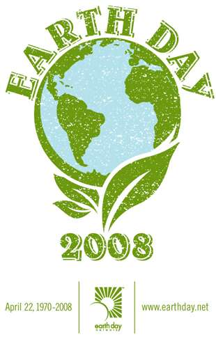 Le logo du Earth Day 2008 dessiné par Adrienne Lay