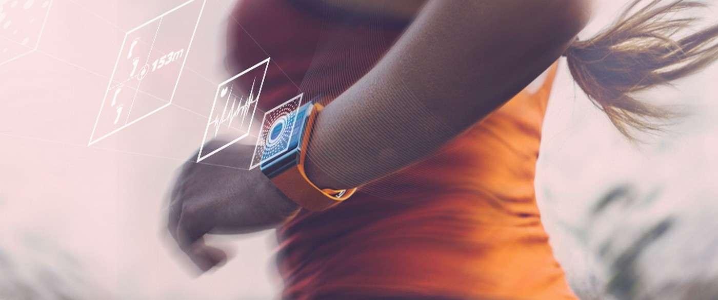 Samsung a rassemblé sur une seule puce des capteurs de signes vitaux : rythme cardiaque, graisses corporelles, masse musculaire, température de la peau, sudation. © Samsung