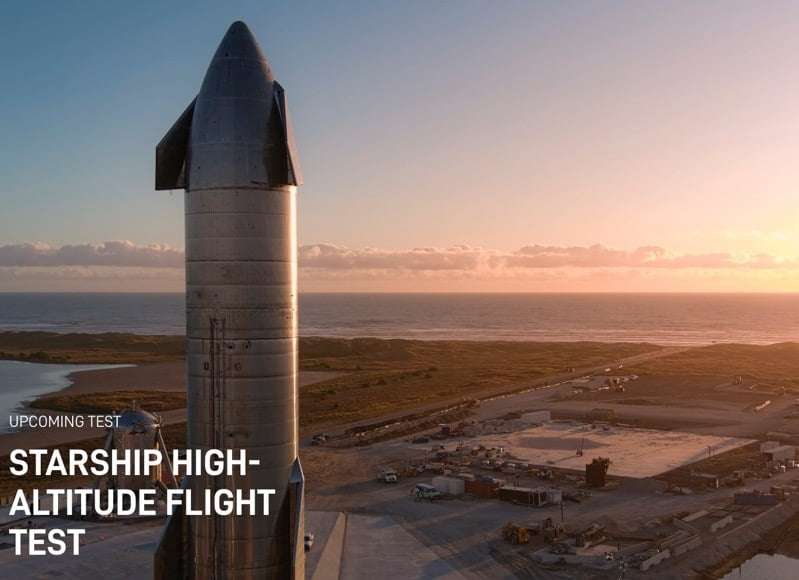 C'est le grand jour : test en haute altitude du prototype de Starship ! © SpaceX