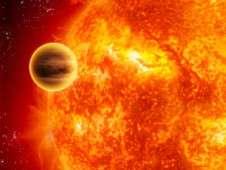 Vue d'artiste d'une géante gazeuse passant à une faible distance de son étoile. Dans la réalité, les instruments de précision détectent la très légère baisse de luminosité de l'étoile causée par cette minuscule éclipse partielle. C'est la méthode dite du transit pour détecter des exoplanètes. Kepler et Corot en sont les spécialistes incontestés. © Nasa