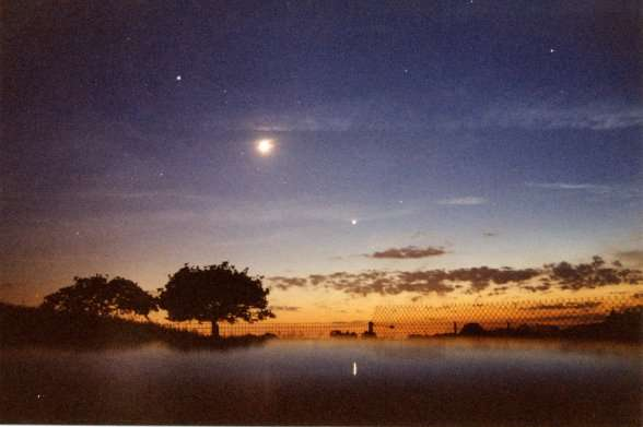 Jupiter, la Lune, Vénus et Mars. © Hubert Fleurance, tous droits réservés