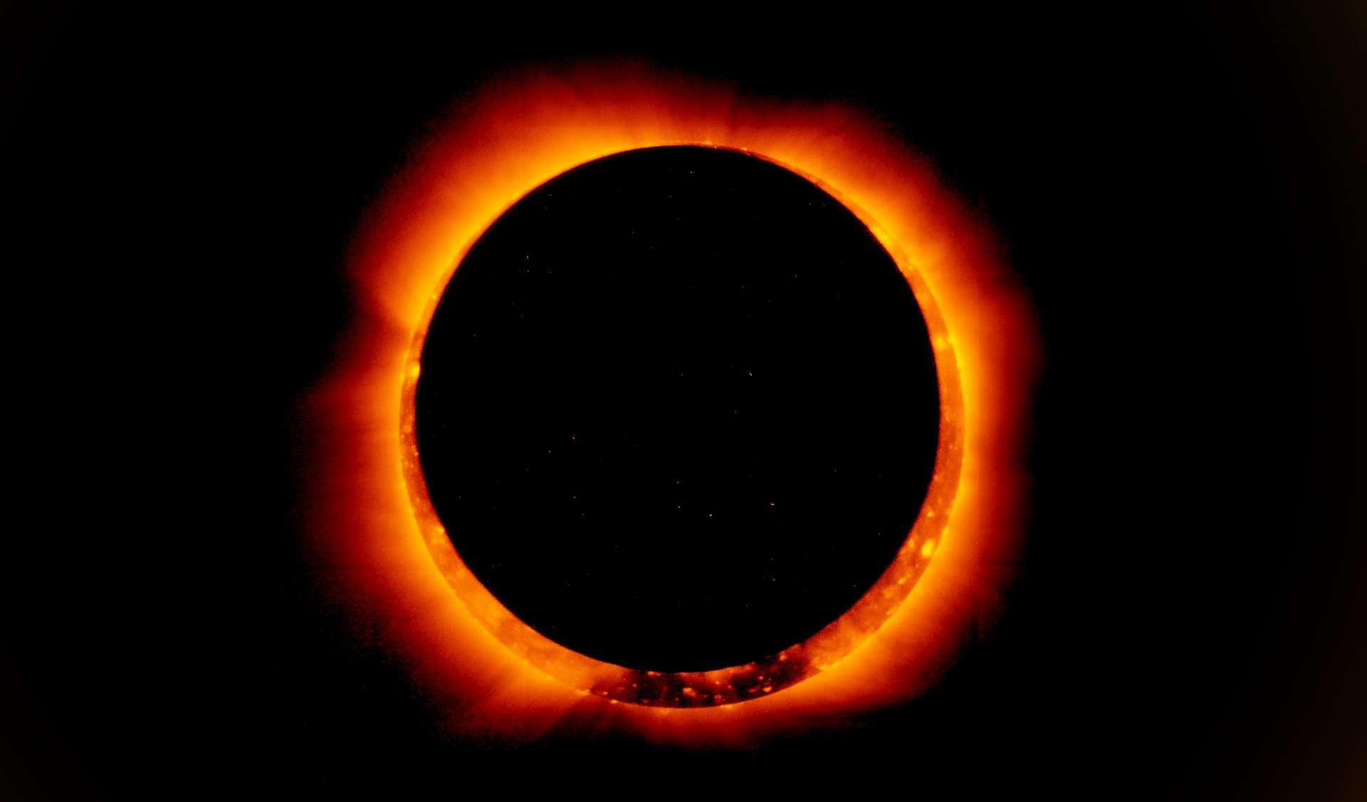 L'éclipse solaire annulaire du 21 juin 2020 : de spectaculaires images. © Doordarshan National, Twitter