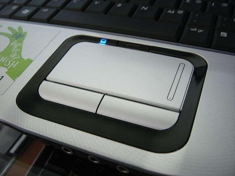 Un touchpad sur un portable. © HP