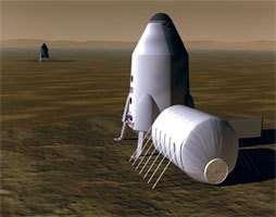 Un projet de base martienne de la NASA.crédit : NASA