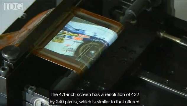 Un écran si fin et si souple qu'il pourrait être enroulé autour d'un stylo. (Vidéo de Sony)