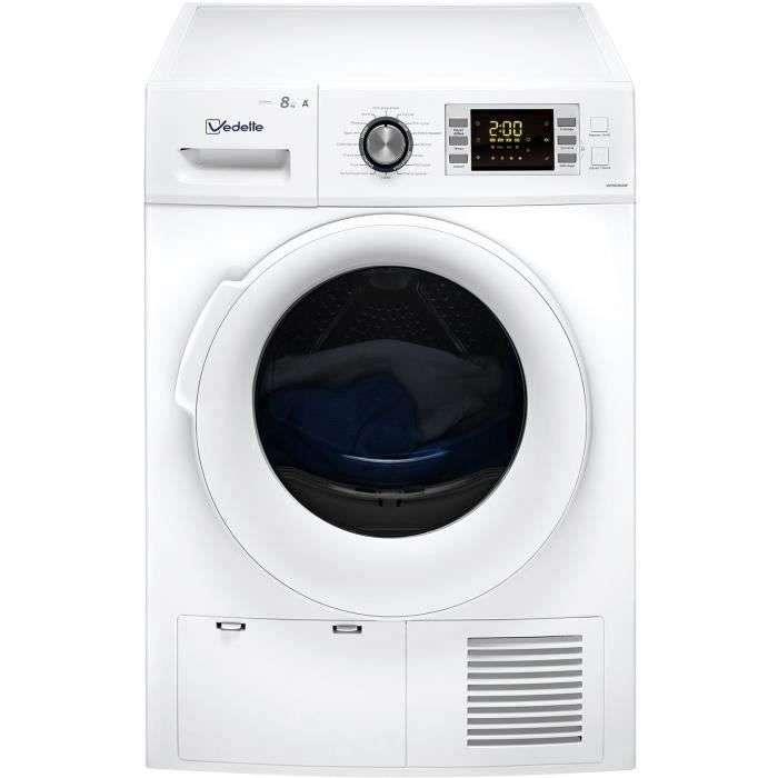 Bon plan : le sèche-linge pompe à chaleur VEDETTE VSF58H1DW © Cdiscount