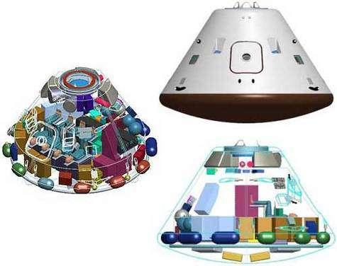 Différentes vues du futur CEV (Crew Exploration Vehicle)