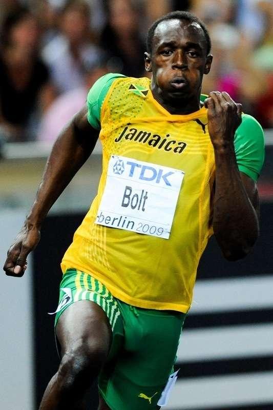 Pour l'instant, c'est le Jamaïcain Usain Bolt l'Homme le plus rapide de tous les temps, en établissant le chrono de 9 s 58. Ses concurrents les plus directs, son compatriote Yohan Blake et l'Américain Tyson Gay, n'ont pu faire mieux que 9 s 69. Il garde un peu de marge. Mais son ambition personnelle est de descendre en dessous des 9 s 50... © Jose Goulao, Fotopédia, cc by nc 3.0