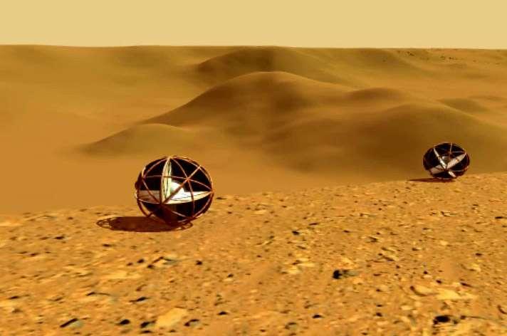 Concept exploratoire d'engin utilisant les vents martiens pour explorer la planète sur de très grandes distances. Crédits Nasa LaRC/Case Western University/Nasa Planetary Data System