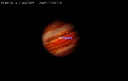 Observez la tâche rouge de Jupiter
