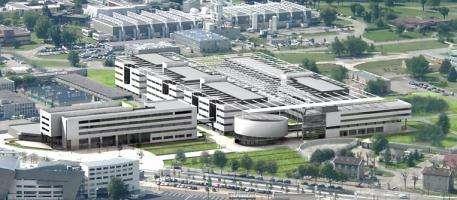 Minatec, le temple des micro et nanotechnologies, a été inauguré le 2 juin 2006 à Grenoble(Crédits : Minatec/Conseil Général de l'Isère )