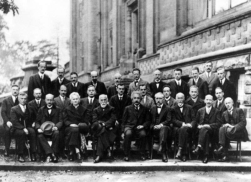 Une photographie du légendaire congrès Solvay en 1927. © Benjamin Couprie, Institut international de physique Solvay