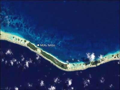 Atoll de RangiroaCrédit : NasaSatellite: Landsat 7