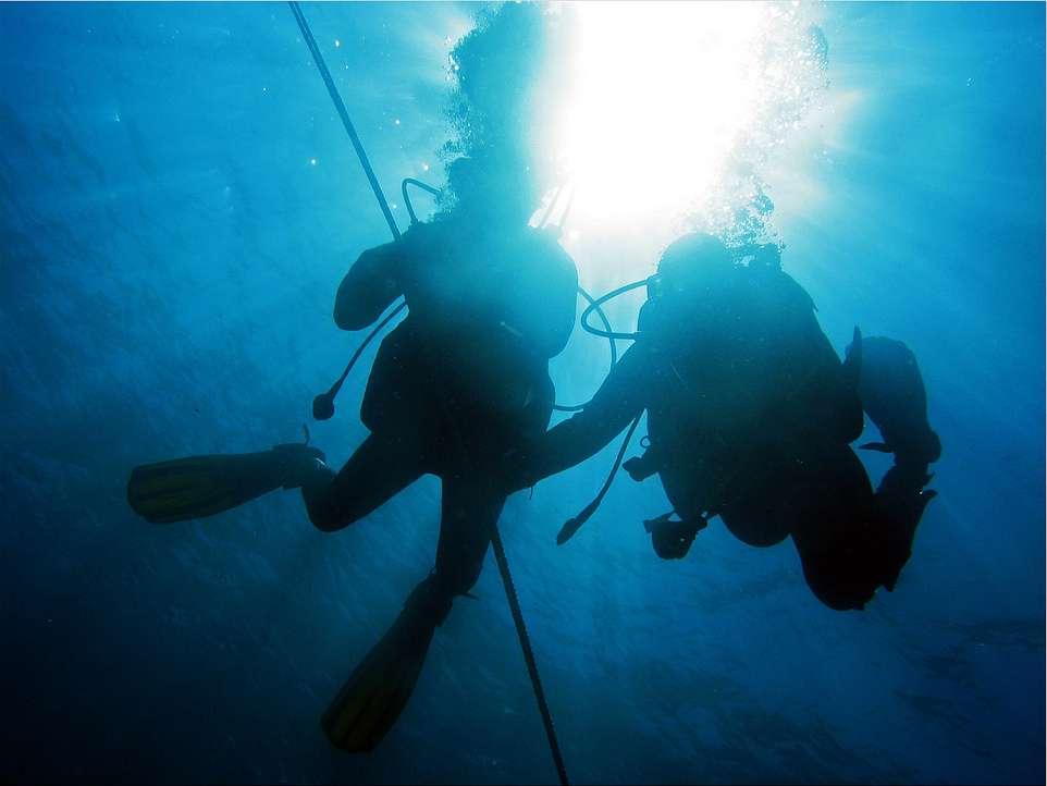 En plongée, la loi de Dalton est utilisée pour calculer la profondeur maximale à ne pas dépasser en fonction de la toxicité des gaz contenus dans le mélange respiré. © Christophe Quintin, Flickr, cc by nc 2.0