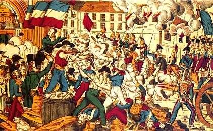 Bataille dans les rues de Lyon devant l'église de Saint-Nizier, lors de la révolte des Canuts, en octobre 1831 © Wikimedia Commons, DP