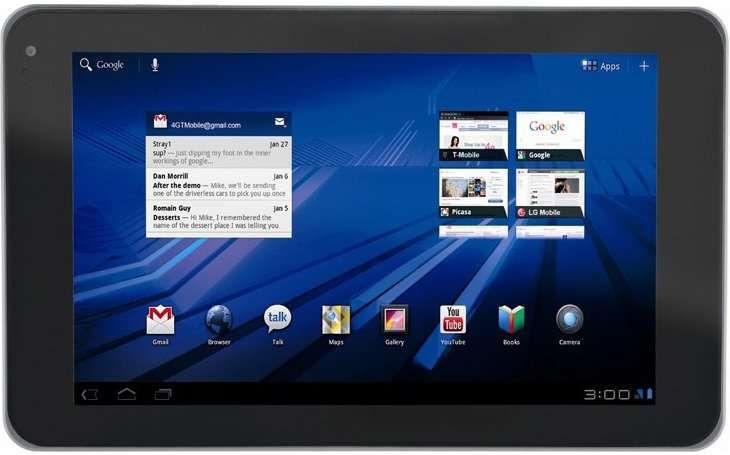La tablette tactile LG Slate utilise Android 3, comme plusieurs modèles à venir prochainement. © LG Electronics