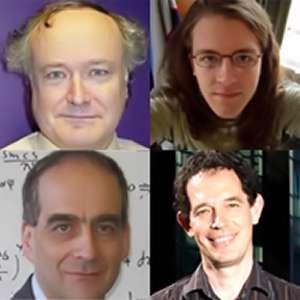 De haut en bas et de gauche à droite Gary Gibbons, Steffen Gielen, Chris Pope, Neil Turok Crédit : Perimeter Institute