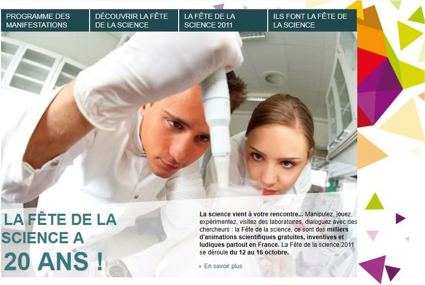 Le site officiel de la Fête de la science détaille le programme par départements. © Ministère de l'enseignement supérieur et de la recherche