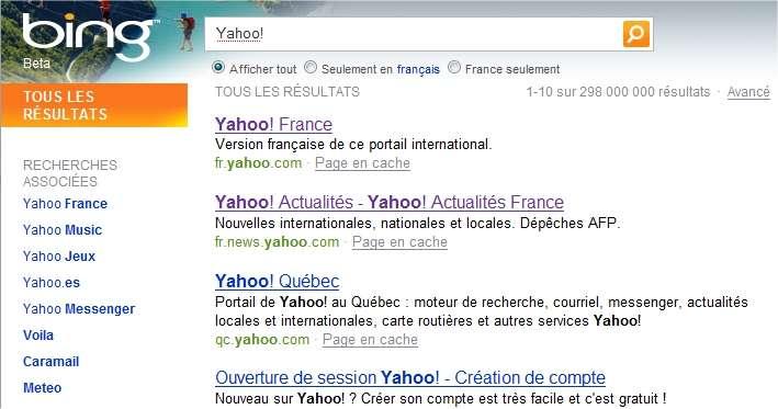 Le moteur de recherche Bing, efficace et original, sera désormais intégré à Yahoo!