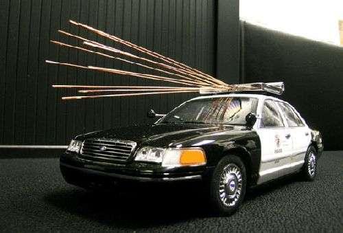 Principe du dispositif installé sur un véhicule de police. Crédit : Eureka Aerospace