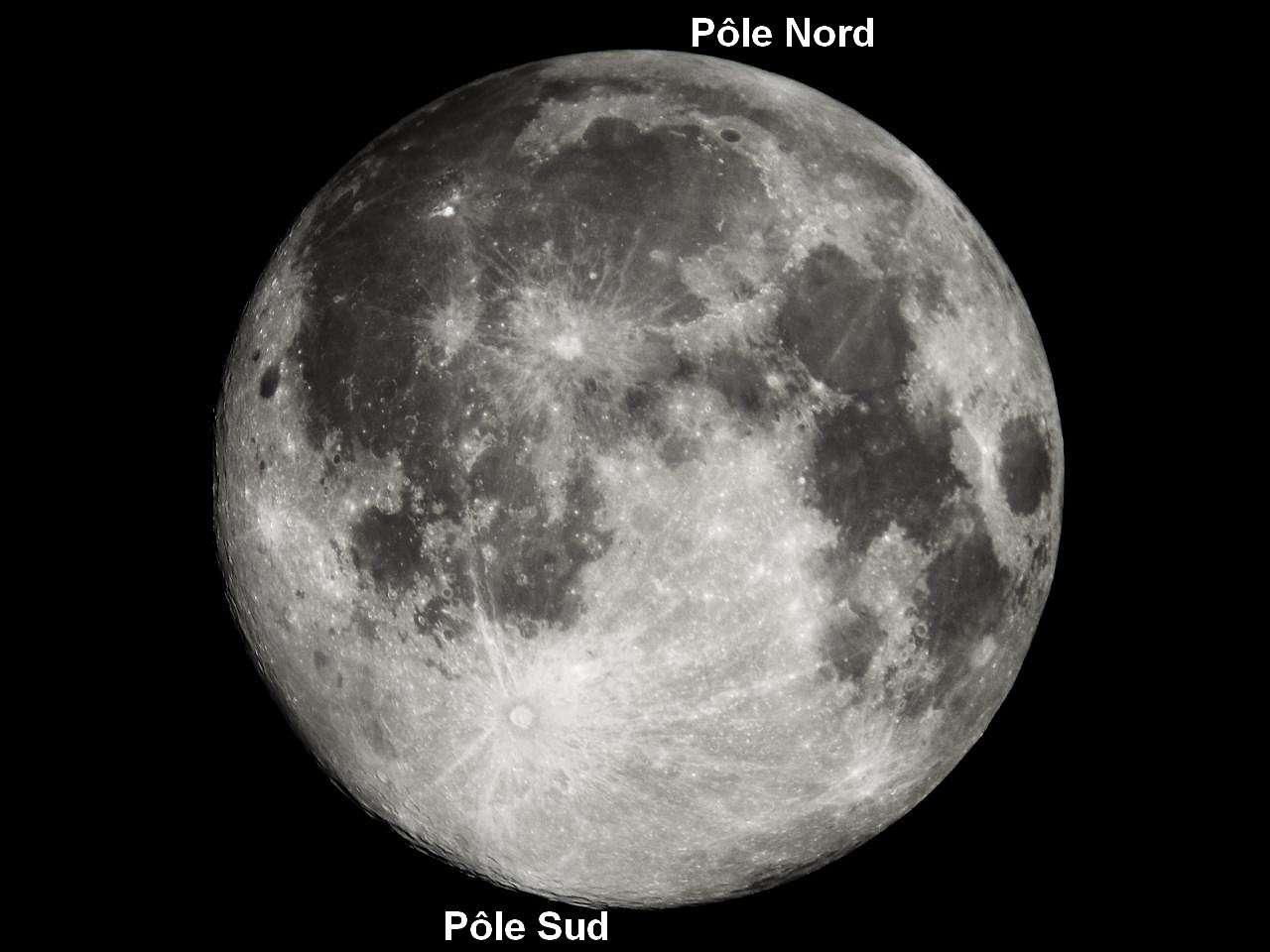 Le pôle sud lunaire devrait être particulièrement surveillé dans les heures qui viennent par tous les passionnés d'astronomie ! Crédit Yachon, son pseudo sur le forum d'astronomie de Futura-Sciences