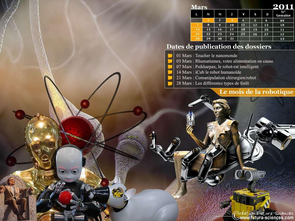 Dossiers du mois : robots en tout genre, alimentation, forêt...
