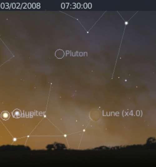 La Lune est en rapprochement avec les planètes Vénus et Jupiter