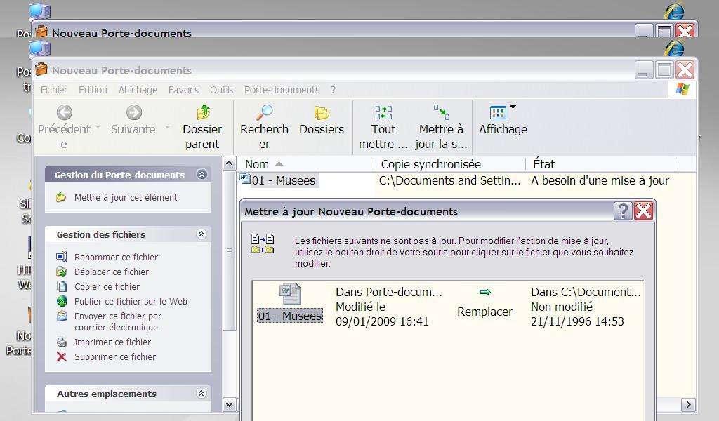 Utilisation du porte documents - Crédits Futura-Sciences