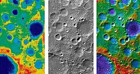 Images renvoyées par la sonde chinoise Chang'e-1. Crédit agance spatiale chinoise