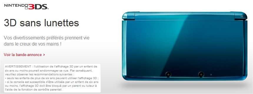 L'affichage du relief sans la nécessité de porter des lunettes spéciales est sans doute un passage obligé pour un large succès de la 3D. © Nintendo