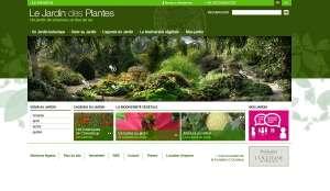Le nouveau site Internet du Jardin des Plantes de Paris. © DR