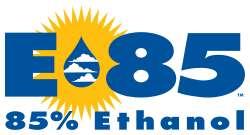 Logo de l'E85 aux États-Unis. © DR