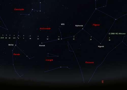 Observez la comète C/2018 W2 Africano