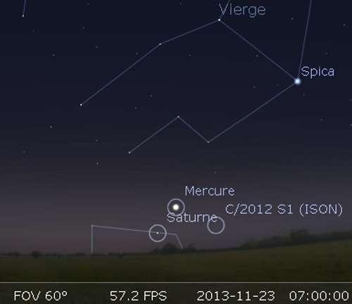 La comète Ison en rapprochement avec Mercure