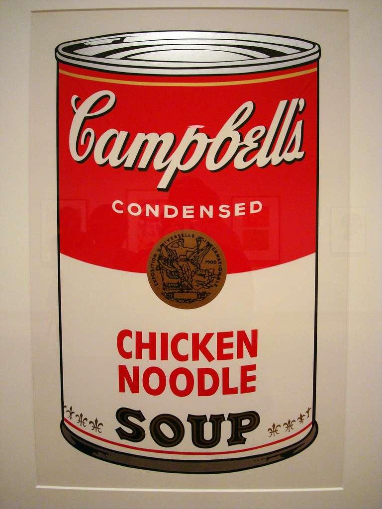 La célèbre canette Campbell, utilisée par Andy Warhol pour dénoncer la société de consommation, contenait probablement du bisphénol A. © IslesPunkFan, Flickr, cc by nc 2.0