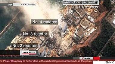 Les radiations autour de la centrale nucléaire japonaise sont un danger pour la population. © NHK