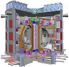 Un Tokamak, réacteur expérmental à fusion.