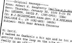 Tragédie de Columbia : deux jours avant, un ingénieur de la NASA avait envisagé une catastrophe...