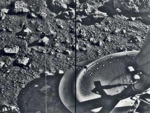 Viking-1, première sonde américaine sur la Planète rouge. Crédit Nasa
