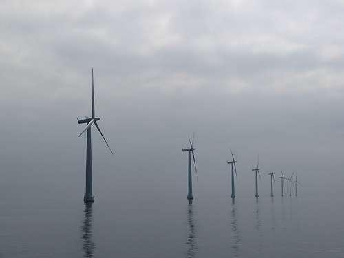 Parc éolien au large du Danemark. © m.prinke Flickr, CC BY-SA 2.0