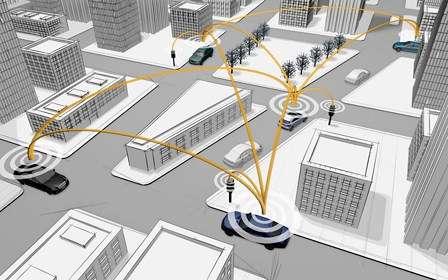 Avec Car-to-X, Mercedes va jusqu'à imaginer que le système puisse gérer le trafic routier en contrôlant directement les feux de signalisation. © Mercedes-Benz