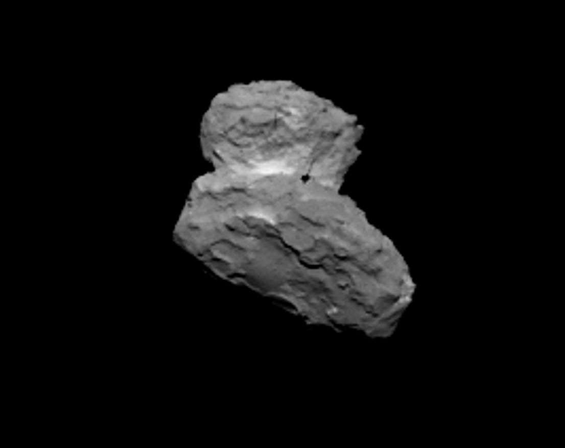 La comète 67P/Churyumov-Gerasimenko vue à une distance de seulement 1.000 kilomètres. © Esa, Rosetta, MPS pour Osiris, UPD, Lam, IAA, SSO, Inta, UPM, DASP, Ida