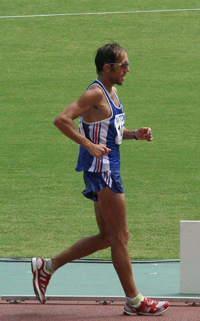 Grand champion de marche athlétique, Yohann Diniz est facteur dans le civil. Il est l'un des espoirs de médaille d'or pour l'athlétisme français aux Jeux olympiques de Londres, cet été. © Arcimboldo, Wikipédia, cc by 2.5