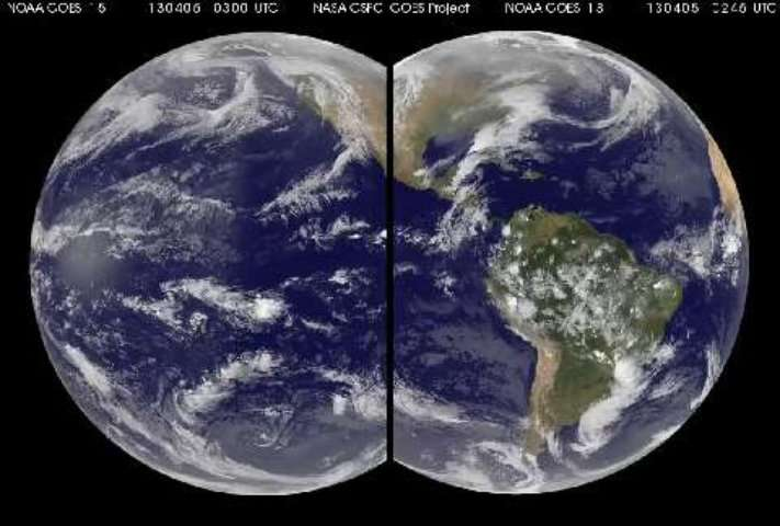 Dix jours de météo vue du ciel par les satellites GOES 13 et 15