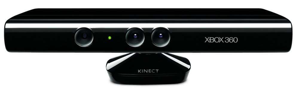 Le boîtier Kinect, avec sa caméra, son détecteur infrarouge et ses microphones, voit et entend ce qui se passe autour de lui. Ses logiciels repèrent les êtres humains et peuvent reconnaître les visages. © Microsoft