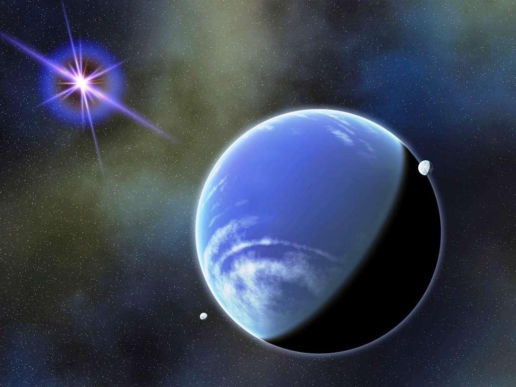 Une vue d'artiste de la naine brune WD 0806-661 b, peut-être entourée de petites planètes. © Nasa Goddard Space Flight Center, Francis Reddy