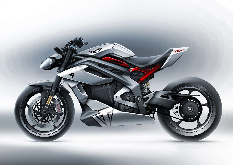Un premier rendu de la Triumph TE-1, première moto électrique de la marque. © Triumph Motorcycles