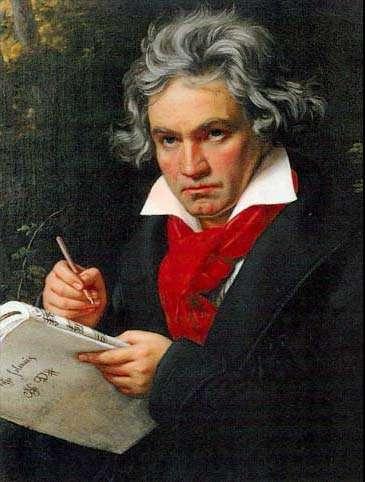 Beethoven, peint par Joseph Karl Stieler en 1820.