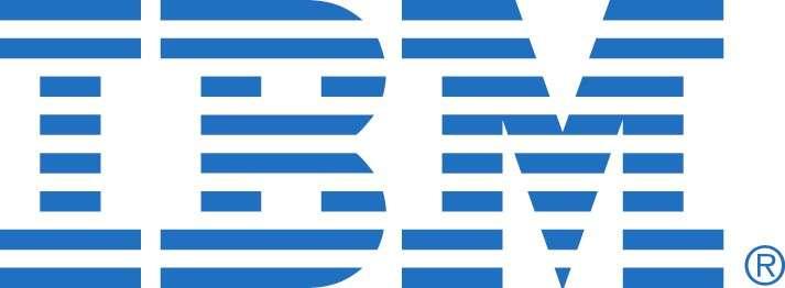 L'entreprise IBM est surnommée « Big Blue » (grand bleu, en anglais) en raison de la couleur bleue de son logo. © IBM
